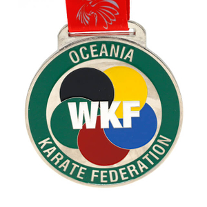 Custom Metal Karate Medal with Logo