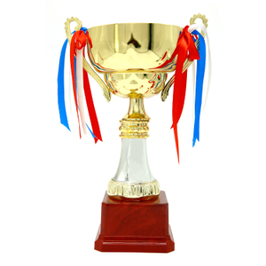 Wholesale Stock Sales Cup Shape Competition Cup Gold Award Trophy
