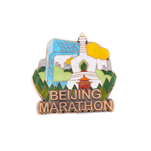 Marathon Brass Logo Customised Badges Emblem Collar Pin Badge