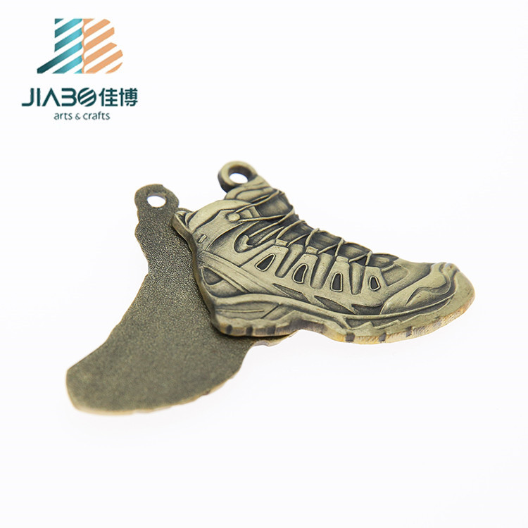 Wholesale Customised Shoes Shape 3d Bronze Plating Keyrings