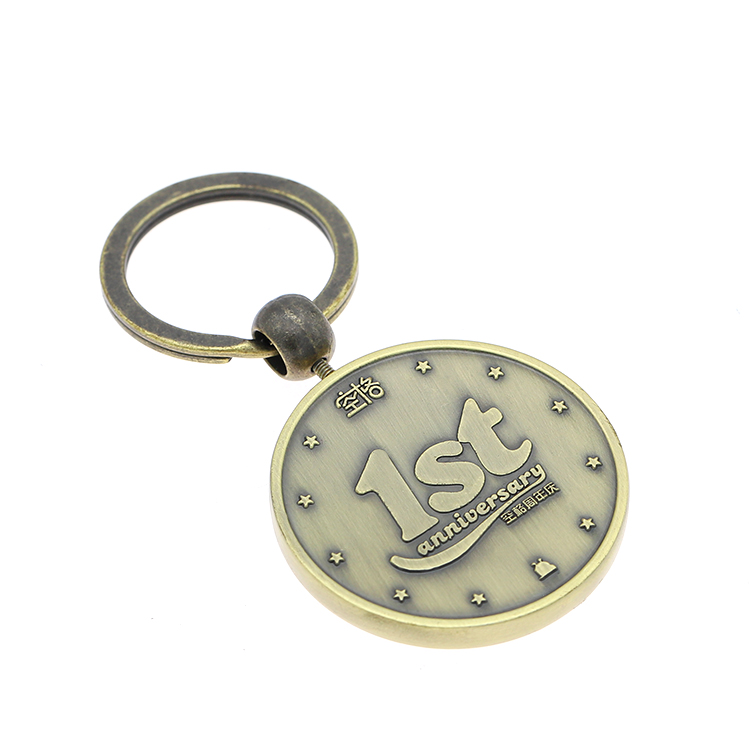 New Style Zinc Alloy Material Bronze Plating Animals 3d Keychain