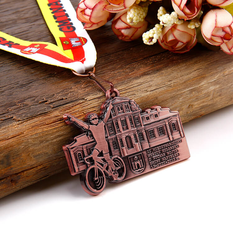Factory Custom Metal Bicycle Bike Medals Custom Medal