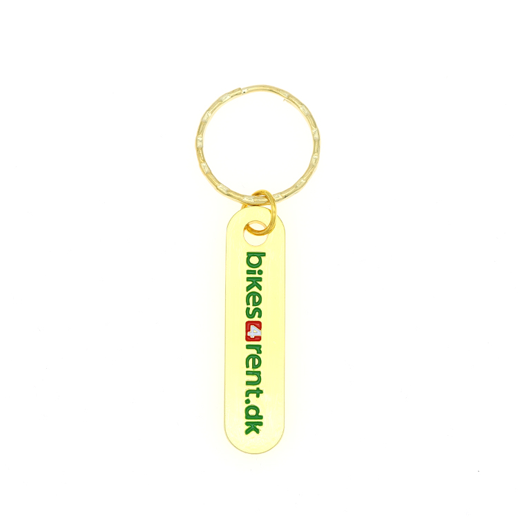 Custom Factory Hard Enamel Gold Keychain