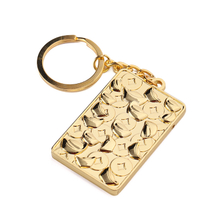 Golden Metal Manufacturers Plate Keychain Animal Keyring Craft Key Chain