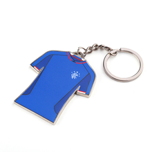 Bule Shirt Beauty Shape Custom Sports Hotel Key Chain