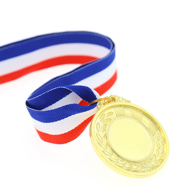 Metal Gold Silver Blank Medal with Printing Sticker