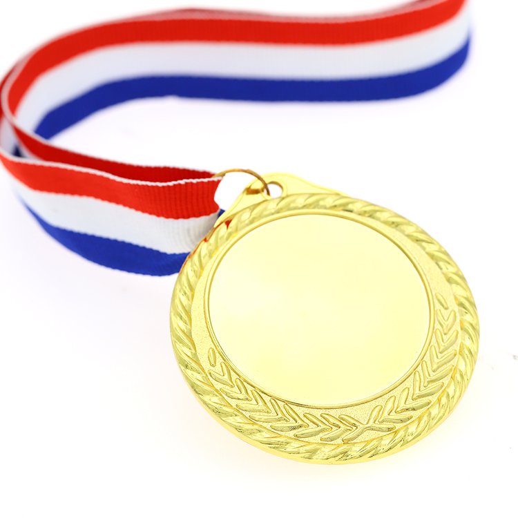 Cheap Factory Wholesale Blank Gold Metal Sports Medals