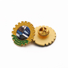 Gear Vip Lapel Making Supplies Custom Enamel Pin with Backing Badge