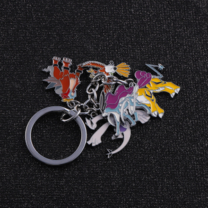 Round Animal Anime Pin Enamel Metal Prefect Keychain Gift Emblem Badge