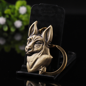 Dog Key Ring Chain Animal Keyring Brass Metal Manufacturers