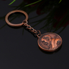 Manufacturer Custom Brass Keyring Bronze Bear Medallion Keychain