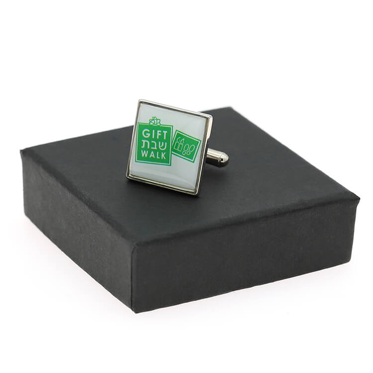 Promotional Metal Fashion Custom Epoxy Resin Cufflink Case