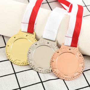 Stock Blank Gold Silver Bronze Sports Running Medals