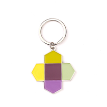 Customized Shape Soft Enamel Souvenir Keychain Different Colors Filled Logo