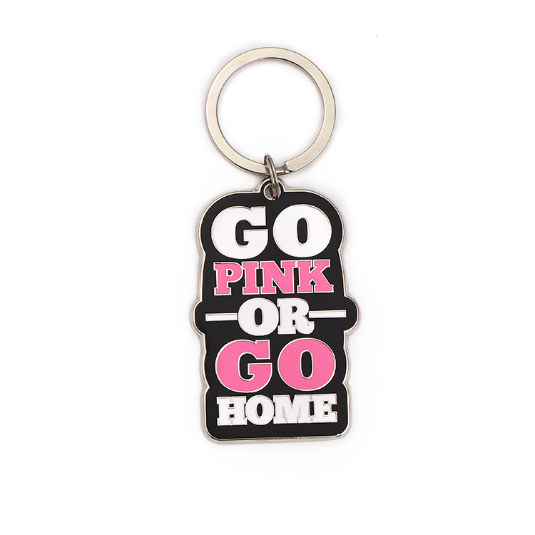 Wholesale Enamel Girl Custom Beautiful Souvenir Metal Key Ring