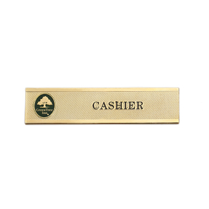 Name Tag Blank Professional Fancy Badge
