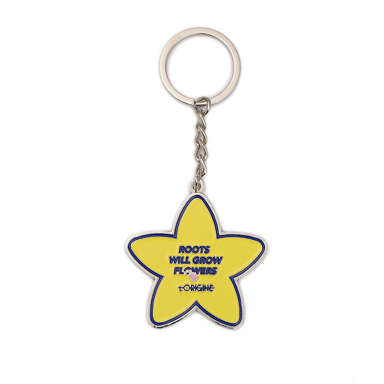 Star Shaped Starfish Keyring Cheap in Bulk Keychain Gift