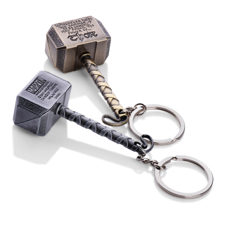 The Avengers Thor's Hammer Metal Quake Keychain For Gift