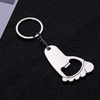 Wholesale Cute Foot Shape Metal Keychain Bottle Opener