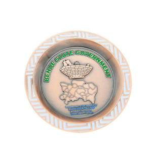 High Quality Promotional Metal Plate Custom Logo Souvenir Plate