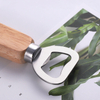 Nickel Plating Zinc Alloy Metal Bottle Opener with Wooden Handle