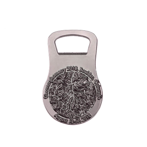 Custom Fine Metal Advertising Zinc Alloy 3d Design Bottle Opener