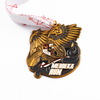 Gold Wing Badge Eagle Wings Metal Military Die Cast Badgemetal Reel with Pin
