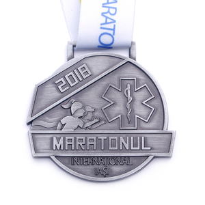 Custom Fun Running Marathon Letter Stainless Steel Sports Medal