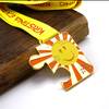 Special Custom Antique Gold Square Shape Medal for Running